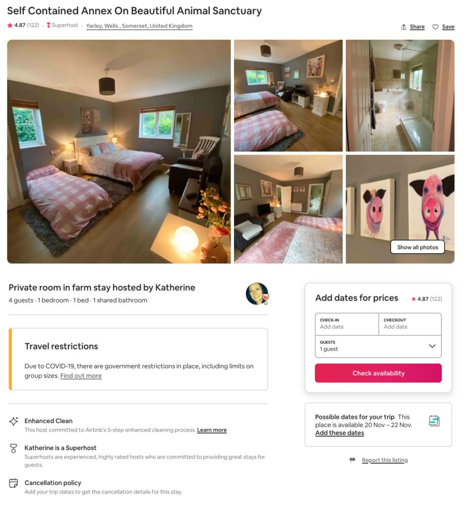 Animal Sanctuary Airbnb